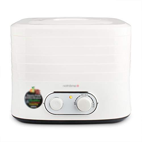 RKY Trockner Nahrungsmitteltrockner - Nahrungsmittelgrad pp, 5 Schichten, Knopf-Temperaturüberwachung, umweltfreundliches Material, Haushalts-Multifunktionslebensmittel-Trockner-Dörrobst-Maschine, pa Ry Pa