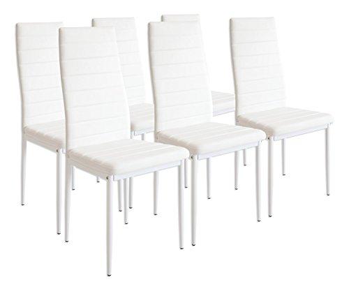 Albatros 2699 MILANO - Set di 6 sedie da pranzo, bianco