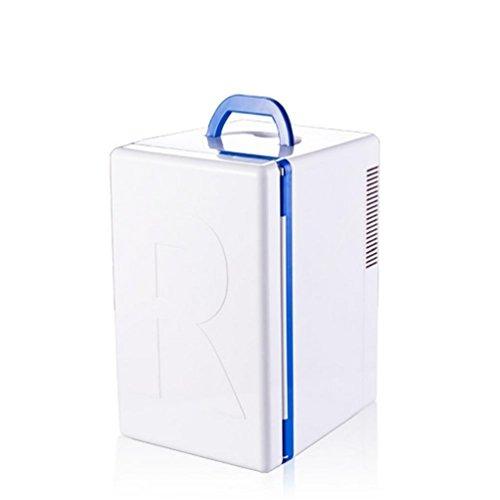 WJJH DRM Mini Réfrigérateur Électrique Boîte de Congélateur Debout pour Voiture et Prise Mini Réfrigérateur Voiture Refroidisseur et Chaud pour Voiture ou Bateau AC Portable 16L, Blanc