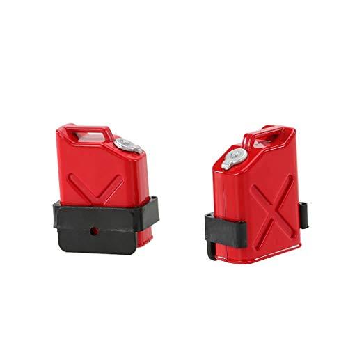 Mini Treibstoff Panzer Öl DrumContainer Teil kompatibel mit 1/10 RC Rock Crawler Offroad Auto Ferngesteuertes Kletterndes Simulation Ölfass Kraftstofftank Zubehör 2PCS (rot)