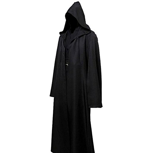 Shiningup Adult Tunique Long Robe à capuche Cloak Knight Fancy Cool Cosplay Costume Halloween Décoration