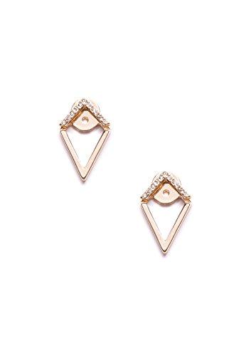 Happiness Boutique Orecchini Pendenti Oro | Orecchini a Perni Geometrici Stile Minimal senza nickel