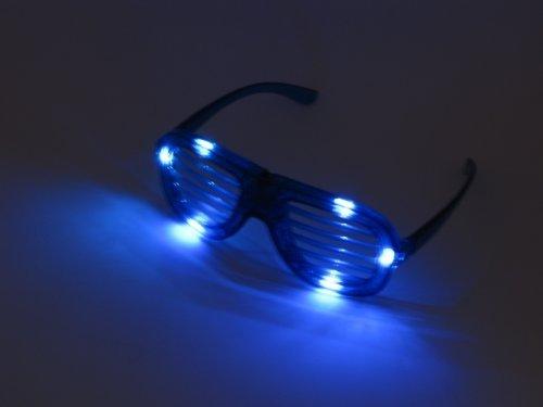Partybrille Spaßbrille Atzen Brille in blau Shutter Shades Glasses