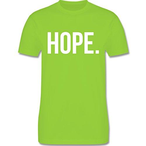 Statement Glaube Religion - Hope Hoffnung weiss - Herren T-Shirt Hellgrün