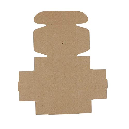 Bonbons, Bad Seife (LXD Haushalt bad klapp kraftpapier box hochzeit süßigkeiten geschenk handgemachte diy kerze seife geschenk verpackung boxen 10 stück)