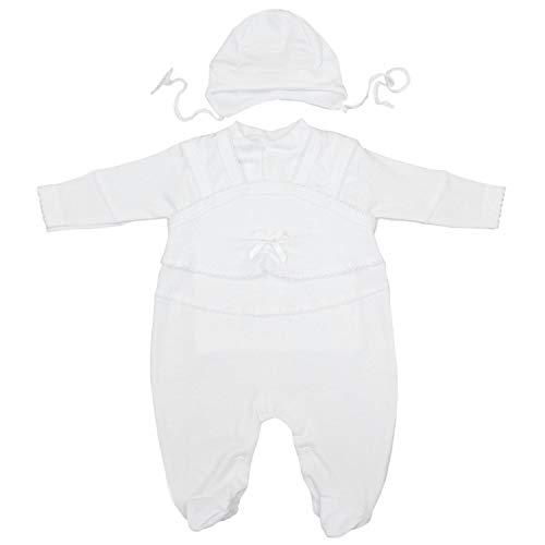 Unisex-strampelanzug (TupTam Unisex Baby Taufbekleidung 3-tlg. Set , Farbe: Weiß / Unisex, Größe: 56)