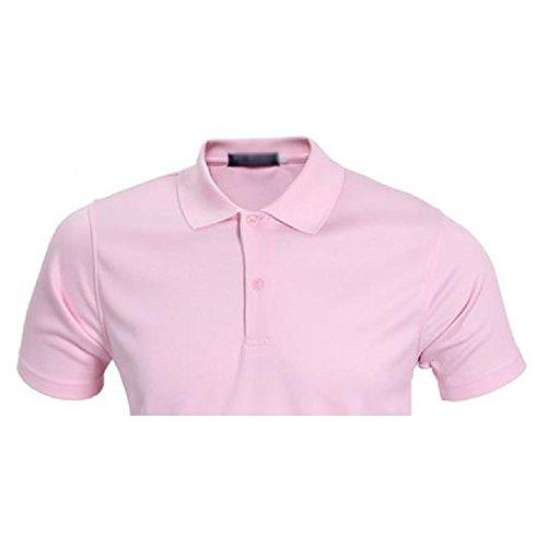 Demarkt Herren Poloshirt Polo T-Shirt Polohemd Kurzarm Polyester Rosa XXXL Rosa x XXXL