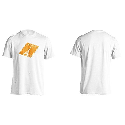 Mondo timbro vintage retro viaggio Uomo T-shirt f987m White