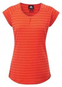 Mountain Equipment Damen Equinox T-Shirt, Poppy Stripe, Size: 12 -