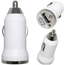 MINI USB CARGADOR DE COCHE BLANCO OZZZO PARA SAMSUNG b2710 Solid / xcover