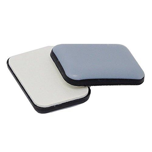 16 Stück - PTFE - Gleiter | 24x35 mm | eckig | Selbstklebende Möbelgleiter in Premium-Qualität | Sofa / Stuhl-Gleiter