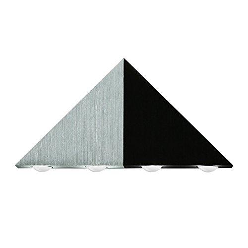 Amzdeal 5W Dreieck LED Wandleuchte 5leds 2700 Kelvin warmweiß