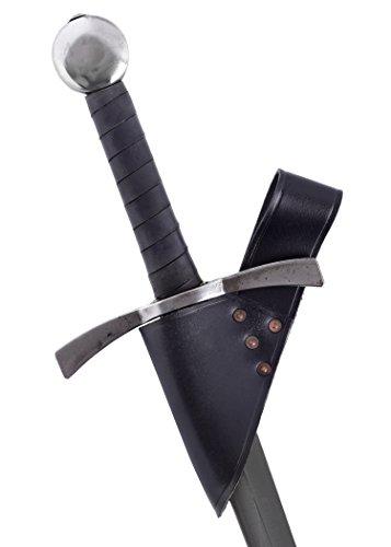 Battle-Merchant Schwertgürtelhalter aus Leder, Ausführung schwarz - Schwerthalter