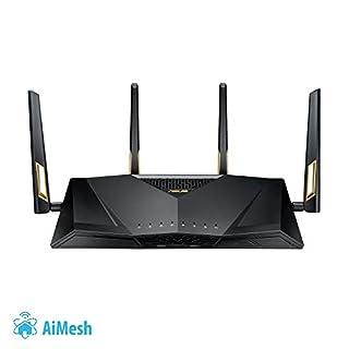 Asus RT-AX88U Gaming Router (Ai Mesh WLAN System, WiFi 6 AX6000, Gaming Engine, 8x Gigabit LAN Link Aggregation, 1.8 GHz QC CPU, AiProtection, USB 3.0)