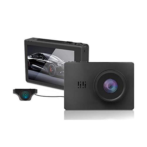 BUT Auto Dash Cam, 3 Zoll Front und Heck Dual 1080P OLED Touchscreen WiFi, 4K Driving Recorder, GPS Kamera Nachtsichtüberwachung, Advanced Night Mode, G Sensor, Dual Lens Auto Sprint Kamera