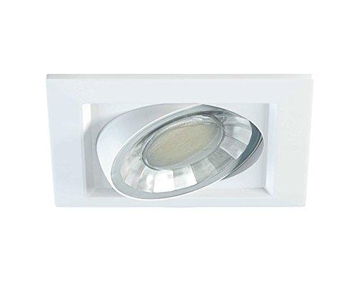 Beneito COMPAC C 8-W-LED-Einbaustrahler 360°, warmweiß, eckig - Deckeneinbau-downlight