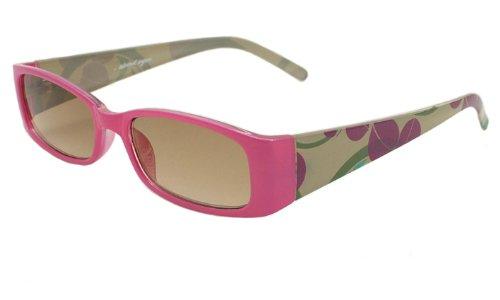 About Eyes SR568Stärke + 1,00Muster Sonne Leser mit Tasche pink/grün