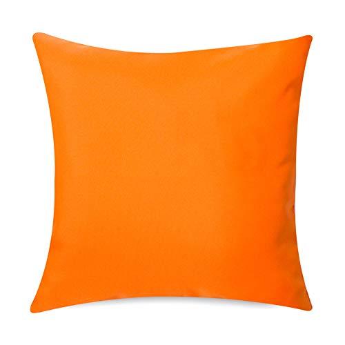 Gartenkissen Sitzpolster – 2 Stück, 43cm x 43cm – Orange - Wasserabweisend mit einer Textilfaserfüllung – Dekoratives Zierkissen für Gartenbänke, Stühle oder Sofas