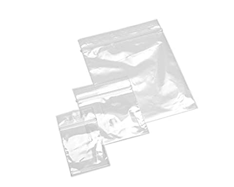 Beads Unlimited 1.5 x 2.5-inch Plastic Seal Grip Bags, Pack of 200