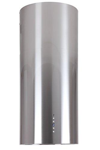 Inselhaube 40 cm Edelstahl 2-Fach Aktivkohlefilter Umluft oder Abluft höhenverstellbar bis 1,05m Dunstabzugshaube mit Timer 2xLED Beleuchtung Haube Küche Dunstabzugshaube Baltic Island