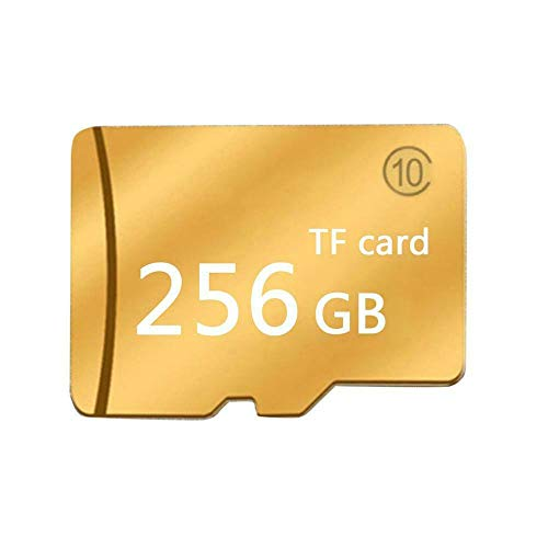 Price comparison product image Yaoaomon Gold Micro-SD Sd Tf Memory Card Class 10 Particles Memory Card Large Capacity Gold 256G