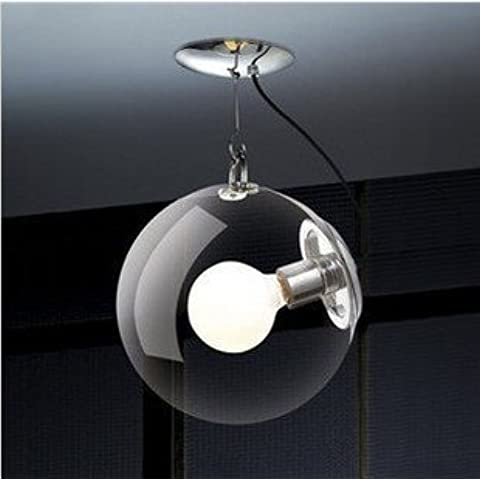Spazio moderno Luce palla Soap Bubble lampada da soffitto di moda singole bolle di vetro (Lampadario Decorativo Hardware Kit)