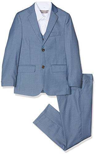 Paisley of London Jungen Anzug Gr. 9 Jahre, blau Chambray Blue