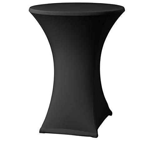 FDBW Stehtischhussen Schwarz - Stehtisch Rock - Stehtisch Tische - Bistrotisch - Tisch Hussen - ∅80-85 x 110 cm - geeignet für Gaststättengewerbe Ereignis | Cocktailparty | Hochzeit | Tischhusse (Schwarz Tisch Rock)