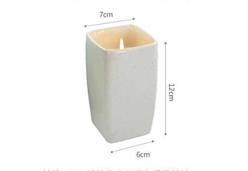 Anvaong Glas Kerze Kerze Kerze Öl Schale Kerzen Soja Wachs Kerze Grafschaft-Park Rauchen Schlafen, Qingyu Lobular Gardenia (Weißes Porzellan Schale Partei)