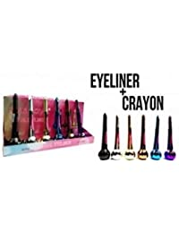 LOT 6 DOUBLE EYE LINER COULEUR DIF NACRE METAL PRÉCISION MAQUILLAGE YEUX