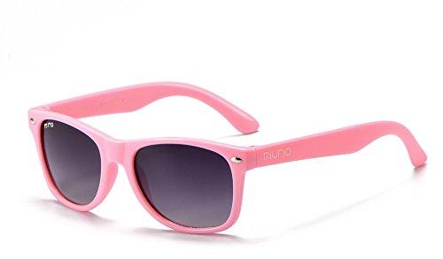 Miuno® Kinder Sonnenbrille Polarisiert Polarized Wayfare für Jungen und Mädchen Etui 6833a (Rosa)