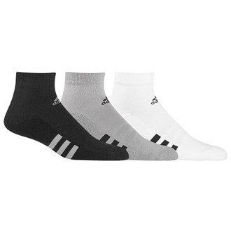 Adidas Low Cut Socks (3 Pack) Mens White/Black/Grey 6.5-10 Mens