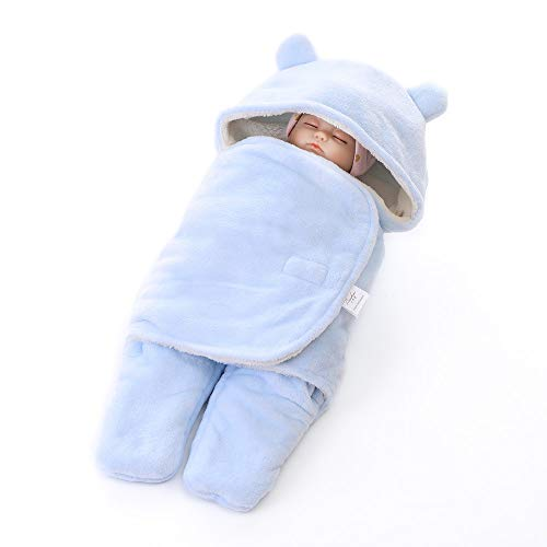 Coperta universale per ovetto, passeggino o lettino, unisex bambino disegno pigiama tuta da ragazzo cotone ragazza pigiami pigiama per primavera & inverno colore a scelta (blu, 25.6