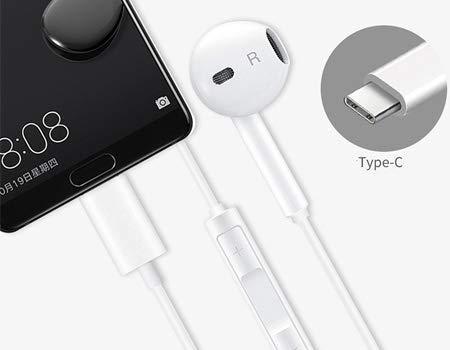 Huawei CM33 - Auriculares con micrófono y Mando a Distancia para Huawei Mate 20 Pro / P20 / P20 Pro - 55030088, Color Blanco