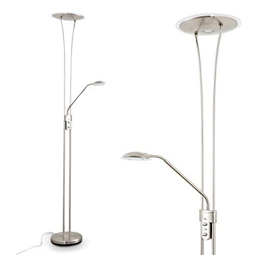 Briloner Leuchten Led Stehlampe Mit Flexibler Leselampe Eckiger 2