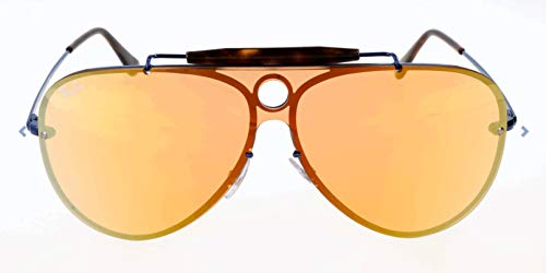 Ray-Ban RAYBAN Unisex-Erwachsene Sonnenbrille 3581n Blue/Darkorangemirrorgold, 32