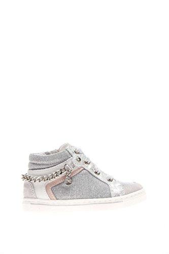 Noir jardins Junior Fille Sneaker haute p621401 F-705 Sneaker haute daim et tissu - blanc - Ghiaccio, 24 EU