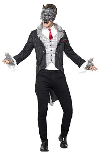 Fancy Me Herren Deluxe Big Bad Wolf gruselig gruselig gruselig Halloween Karneval Buchtag Kostüm Outfit (Big Bad Wolf Kostüm Herren)