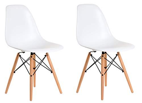 Aryana Home Eames Replik-Set Stühle, 51x 46,5x 81,5cm 51x46.5x81.5 cm weiß