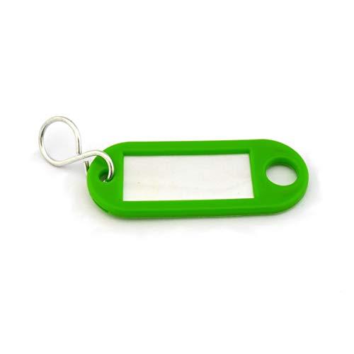 Schlüsselanhänger mit S-Haken und Beschriftungsfeld - 55x22mm - mehrere Farben zur Auswahl - einzeln oder im 10er Pack -