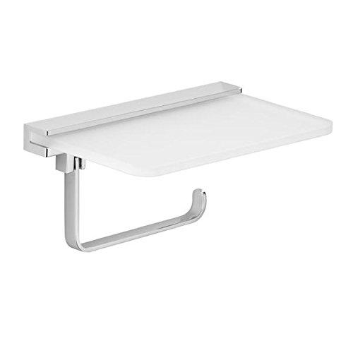 AVENARIUS Toilettenpapierhalter mit Handyablage -Glasablage Chrom Glänzend