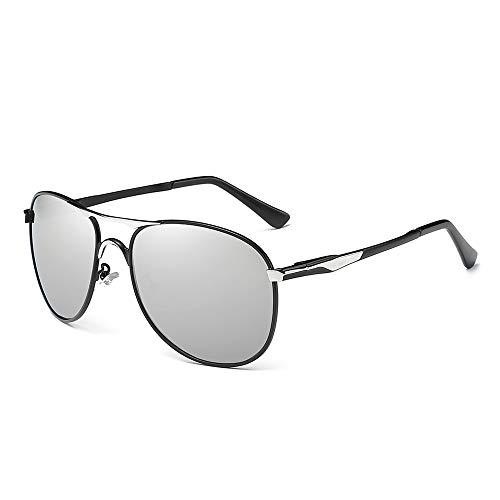 NUOLAN Herren Military Aviator Sonnenbrille Polarisierte 61mm Aluminium Magnesium Metallrahmen (UK-8722G)