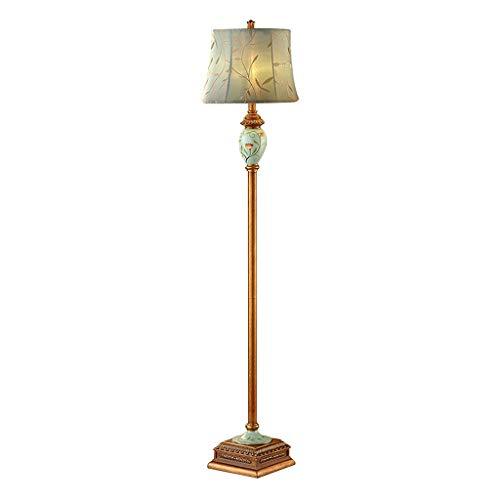 Home mall- Retro Resin Stehlampe, Stehlampe mit Lampenschirm aus Stoff, für Wohnzimmer Schlafzimmer 160X35.5cm -