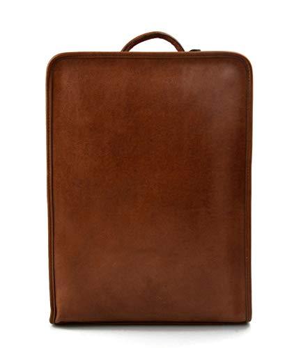 Zaino pelle vitello uomo donna borsa spalla zaino scuola zaino lavoro grande zaino marrone in pelle borsa pelle viaggio tamponato a mano