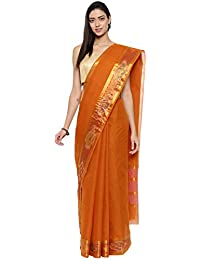 CLASSICATE From the house of Classicate From The House Of The Chennai Silks - Pure Venkatagiri Cotton Saree - Marmalade Mustard - (CCMYSC9505)