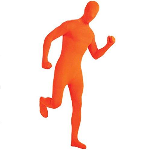 Unisex-Kostüm für Damen und Herren, Ganzkörpergröße, schattenähnliches Kopf-zu-Zeh-Kostüm Gr. Medium, Orange (Herren Orange Zweite Haut Für Erwachsene Kostüm)