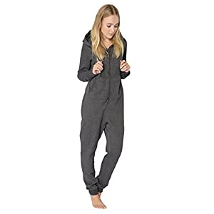 Eight2Nine Damen Sweat Overall | Kuscheliger Jumpsuit | Einteiler aus bequemen Sweat-Material einfarbig