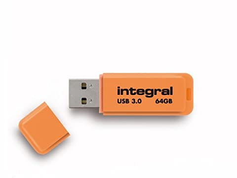 Integral Neon Clé USB 3.0 64 Go Orange