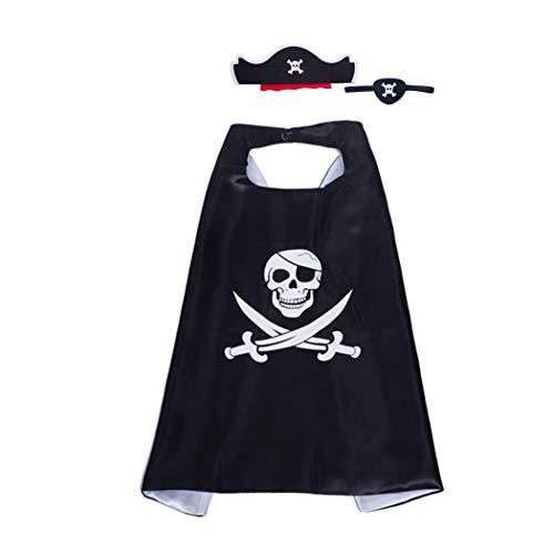 Joyibay Kinder Piraten Umhang Mit Hut Und Augenklappe Piraten Kostüm Set Creative Dress Up Set Spielen Spielzeug