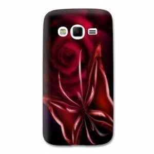 coque Samsung Galaxy Grand / Grand Plus fleurs - fleur papillon rouge N